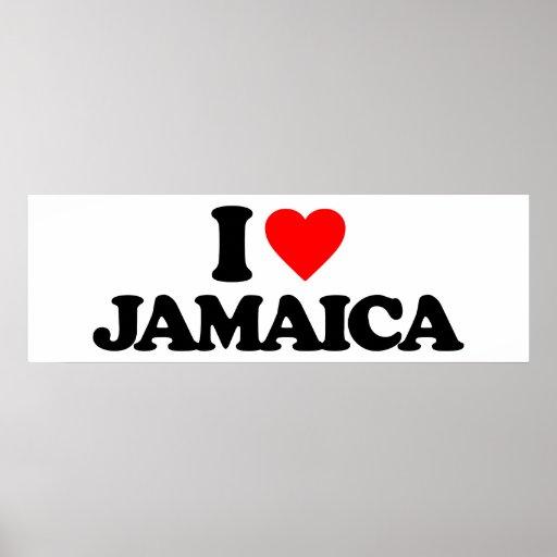I LOVE JAMAICA PRINT