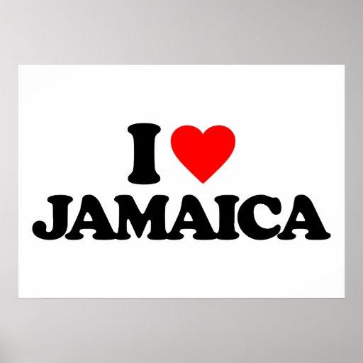 I LOVE JAMAICA POSTER