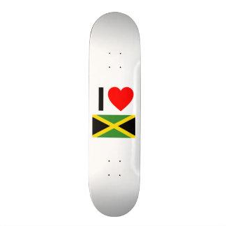 i love jamaica custom skate board