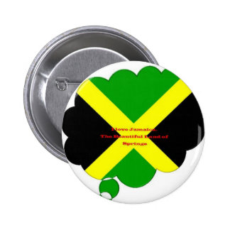 I Love Jamaica. The Beautiful Land of Springs 6 Cm Round Badge