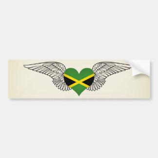 I Love Jamaica -wings Bumper Sticker