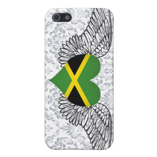 I Love Jamaica -wings Cases For iPhone 5