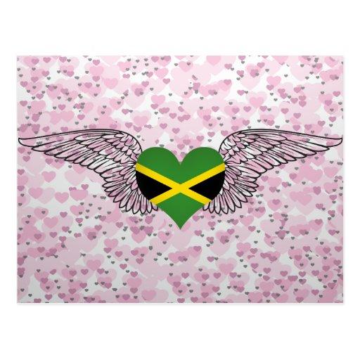 I Love Jamaica -wings Post Card