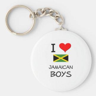 I Love Jamaican Boys Keychains