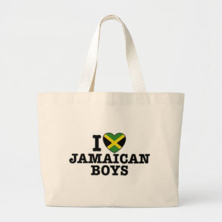 I Love Jamaican Boys Large Tote Bag