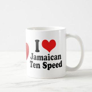 I Love Jamaican+Ten Speed Coffee Mug