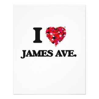 I love James Ave. Massachusetts 11.5 Cm X 14 Cm Flyer