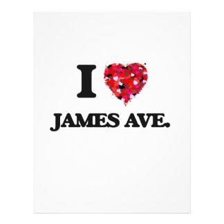 I love James Ave. Massachusetts 21.5 Cm X 28 Cm Flyer