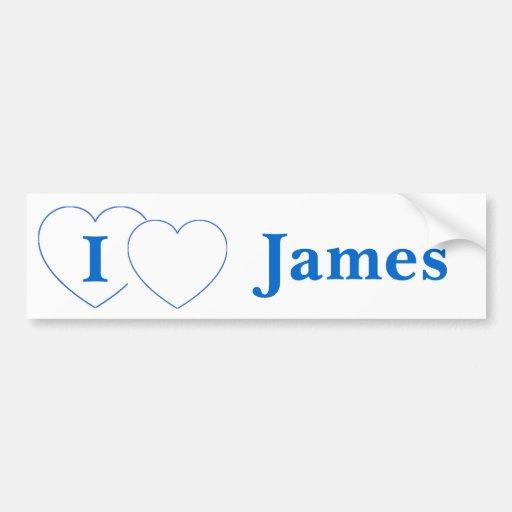 I Love James (BpS) Bumper Sticker