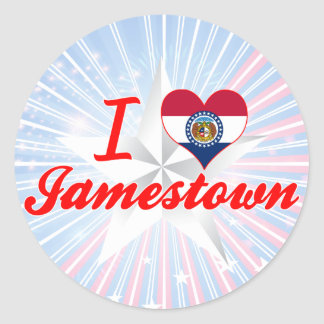 I Love Jamestown Missouri Round Stickers