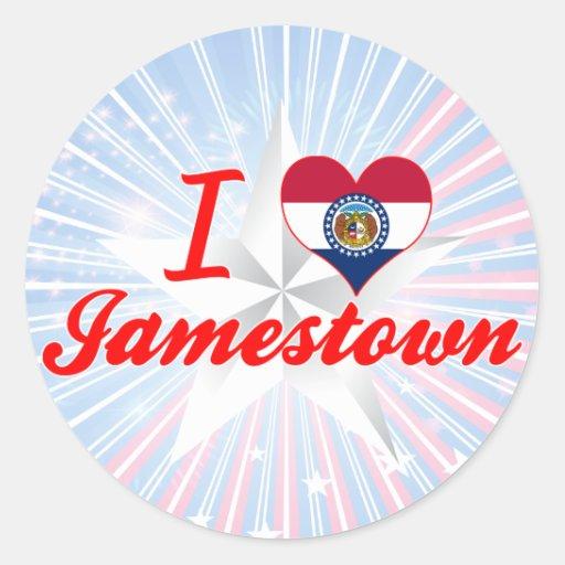 I Love Jamestown, Missouri Round Stickers