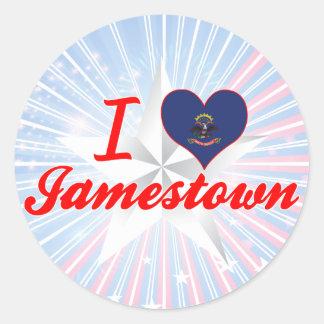 I Love Jamestown, North Dakota Stickers