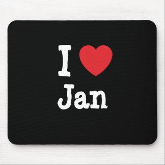 I love Jan heart T-Shirt Mouse Mats