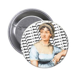 I love Jane Austen 6 Cm Round Badge
