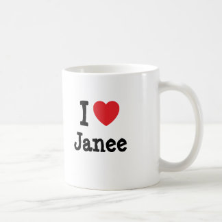 I love Janee heart T-Shirt Mugs