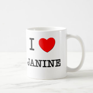 I Love Janine Coffee Mug