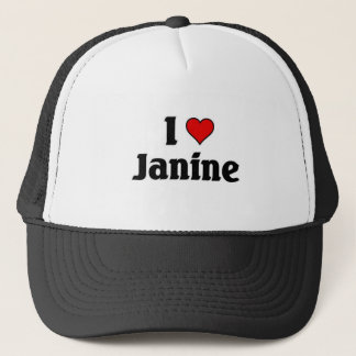 I love janine trucker hat