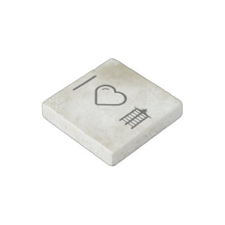 I Love Japan Architectures Stone Magnet