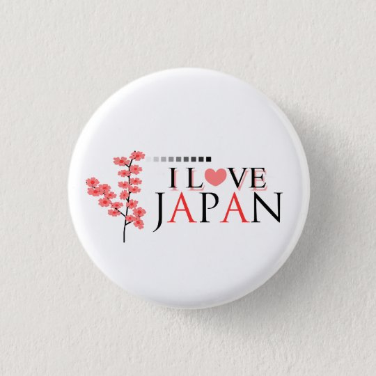 """I love Japan"" design for Japan Lovers 3 Cm Round Badge"