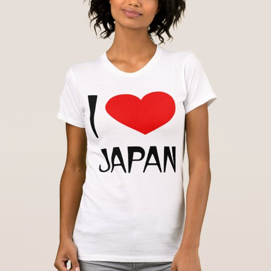I Love Japan Ladies T-Shirt