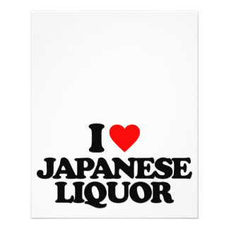 I LOVE JAPANESE LIQUOR 11.5 CM X 14 CM FLYER