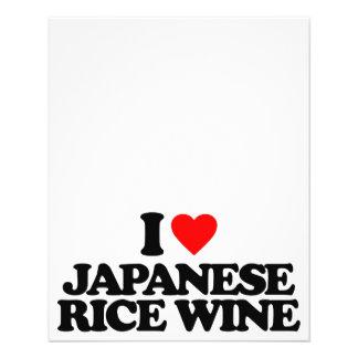 I LOVE JAPANESE RICE WINE FLYER DESIGN