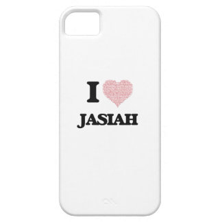 I Love Jasiah (Heart Made from Love words) iPhone 5 Cover