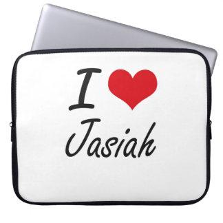 I Love Jasiah Laptop Sleeve