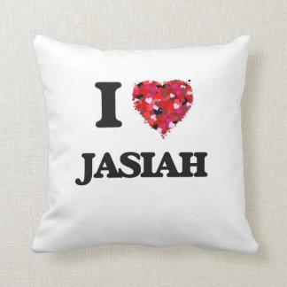 I Love Jasiah Throw Cushions