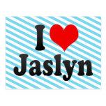 I love Jaslyn Post Card