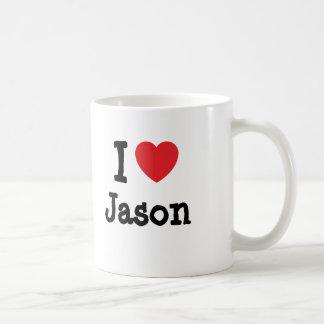 I love Jason heart custom personalized Coffee Mug