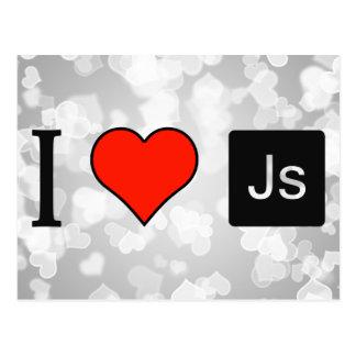 I Love Java Script Postcard