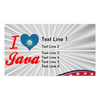 I Love Java South Dakota Business Cards