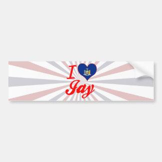 I Love Jay, New York Bumper Sticker