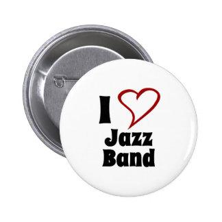 I Love Jazz Band 6 Cm Round Badge