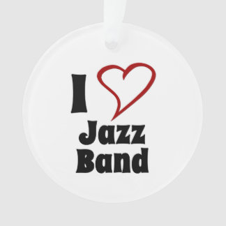 I Love Jazz Band Ornament