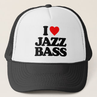 I LOVE JAZZ BASS TRUCKER HAT