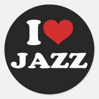I Love Jazz Classic Round Sticker