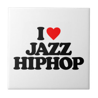 I LOVE JAZZ HIPHOP SMALL SQUARE TILE