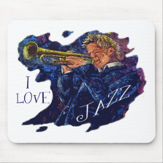 I LOVE JAZZ MOUSE MAT