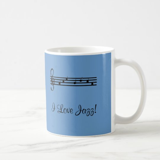 I Love Jazz Music Coffee Mug