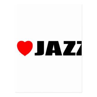 I Love Jazz Postcard