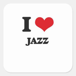 I Love JAZZ Square Sticker