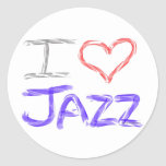 I Love Jazz Stickers