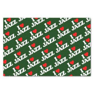 I LOVE JAZZ TISSUE PAPER