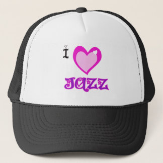I LOVE Jazz Trucker Hat