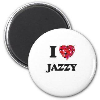 I Love Jazzy 6 Cm Round Magnet