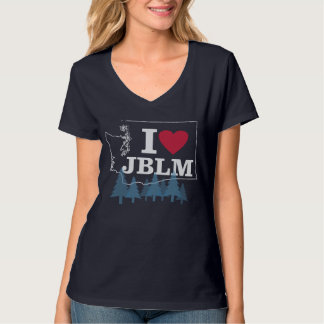 I Love JBLM with trees women's tshirt