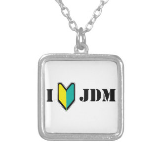 I love JDM Silver Plated Necklace