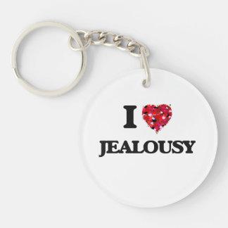 I Love Jealousy Single-Sided Round Acrylic Key Ring